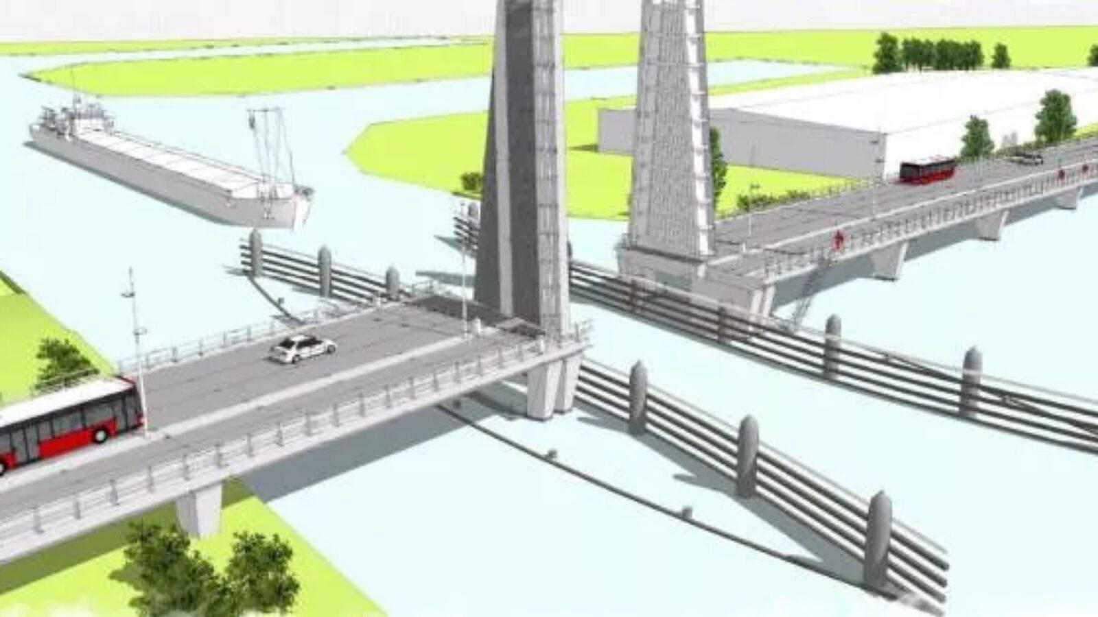 De Sontbrug; langste brug van Groningen in wording