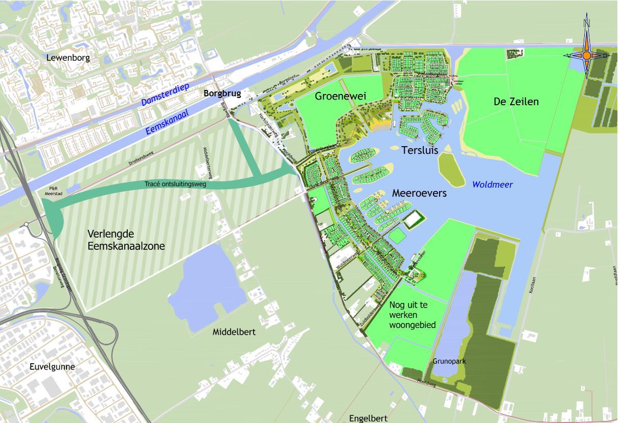 Snellere verbinding tussen Meerstad en stad stap dichterbij