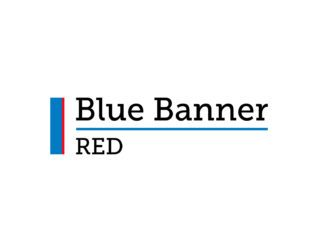 Blue Banner RED
