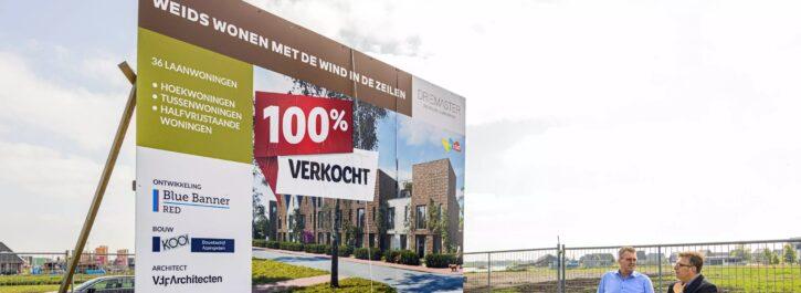 Allereerste projectbouwwoningen worden gebouwd in jongste wijk van Meerstad: De Zeilen